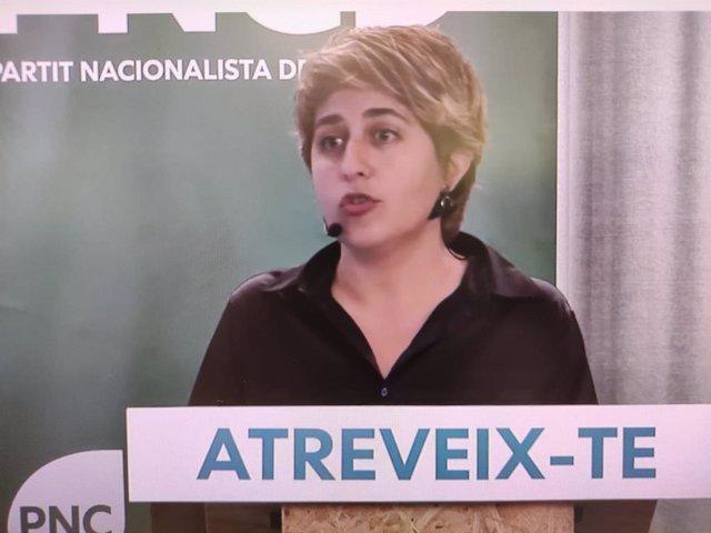 La líder del PNC, Marta Pascal, en la clausura de la convenció del partit