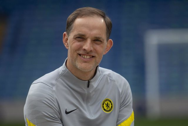 19 May 2021, United Kingdom, London: Chelsea manager Thomas Tuchel attends the launch of Chelsea's new partnership with Trivago at Stamford Bridge. Photo: Victoria Jones/PA Wire/dpa