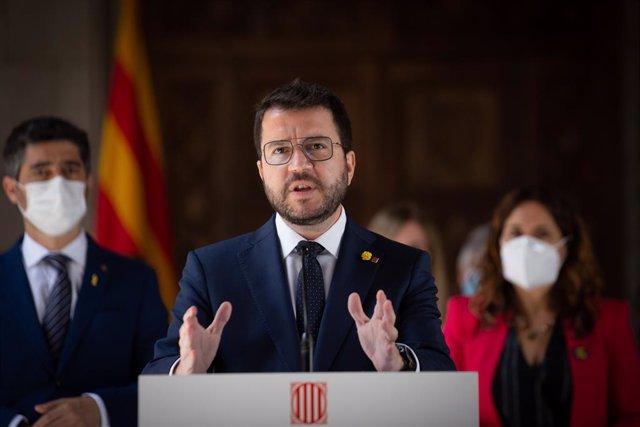 El president de la Generalitat, Pere Aragonès