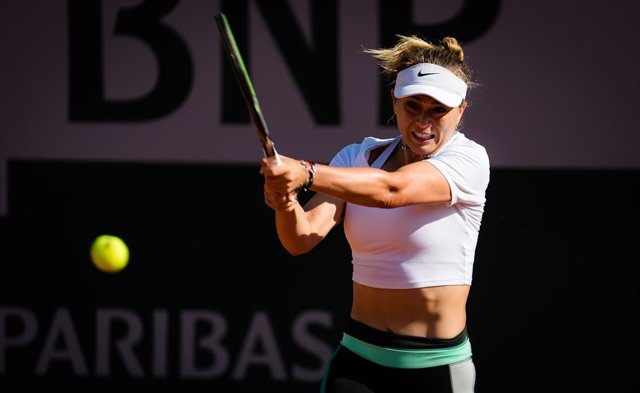 Paula Badosa of Spain during practice ahead of the 2021 Roland Garros Grand Slam Tournament