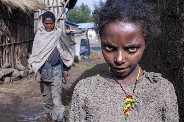 Archivo - Residentes de la región etíope de Amhara