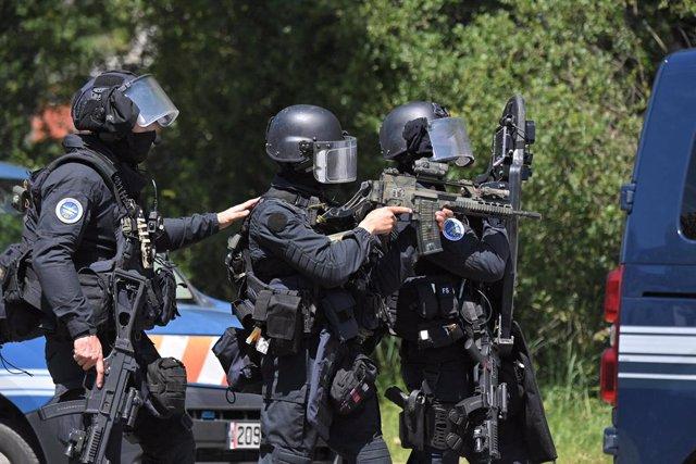 Angentes del Grupo de Intervención de la Gendarmería Nacional (GIGN), las fuerzas especiales de la Gendarmería francesa