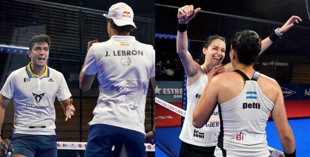 Lebrón-Galán y Brea-Icardo, campeones del Estrella Damm Santander Open