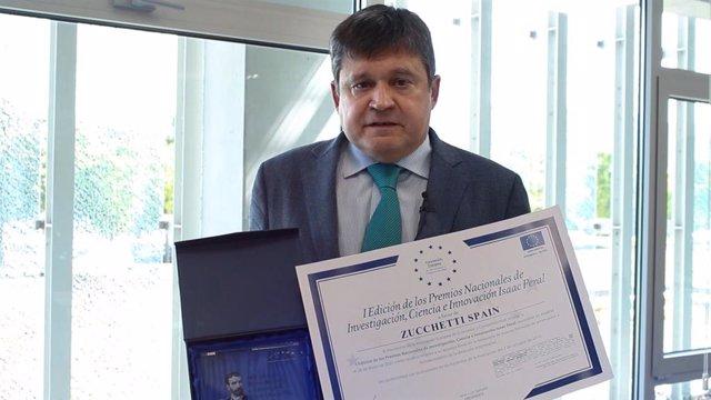Premio a la Innovación en el Desarrollo de Software a Zucchetti, que concede la Asociación Europea de Economía y Competitividad (AEDEEC) en el marco de la I Gala de los Premios Nacionales de Investigación, Ciencia e Innovación Isaac Peral.