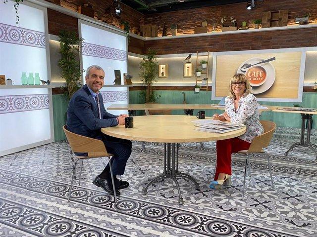 El president d'Aena, Maurici Lucena, en una entrevista del programa 'Cafè d'idees' de La 2 i Ràdio 4.