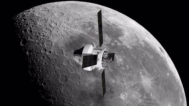 Recreación de una misión Orion en órbita lunar