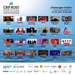 Els Amics de les Arts, Sopa de Cabra i Blaumut esgoten les entrades en el Festival de Cap Roig (Girona)