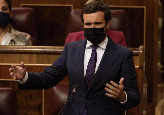 Arxiu - El líder del PP, Pablo Casado.