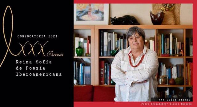 La poeta portuguesa Ana Luísa Amaral, galardonada con el XXX Premio Reina Sofía de Poesía Iberoamericana convocado por Patrimonio Nacional en colaboración con la Universidad de Salamanca