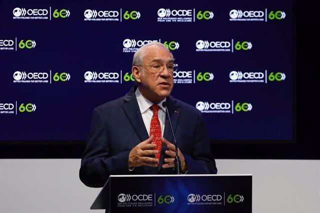 Archivo - El secretario general de la OCDE, Ángel Gurría