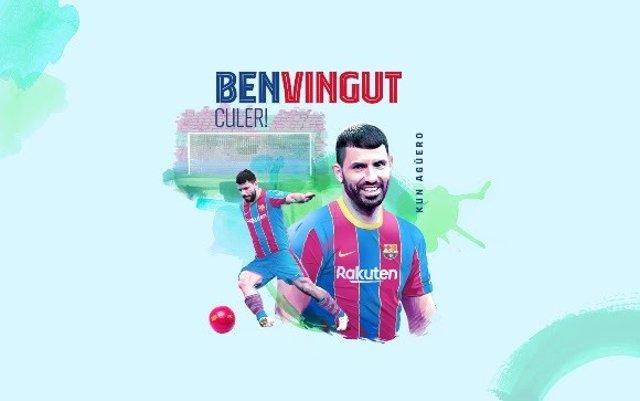 Anuncio del FC Barcelona del fichaje del delantero argentino Sergio 'Kun' Agüero para el primer equipo de fútbol hasta 2023