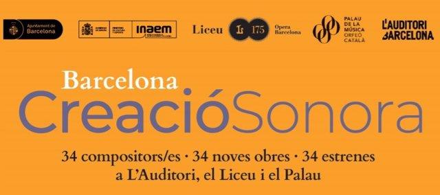 Cartell de la iniciativa 'Barcelona Creació Sonora'.
