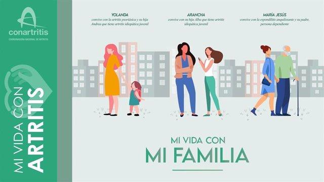 Imagen de la campaña 'Mi vida con artritis'