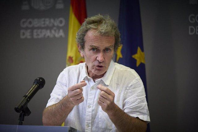El director del Centro de Alertas y Emergencias Sanitarias (CAES), Fernando Simón,