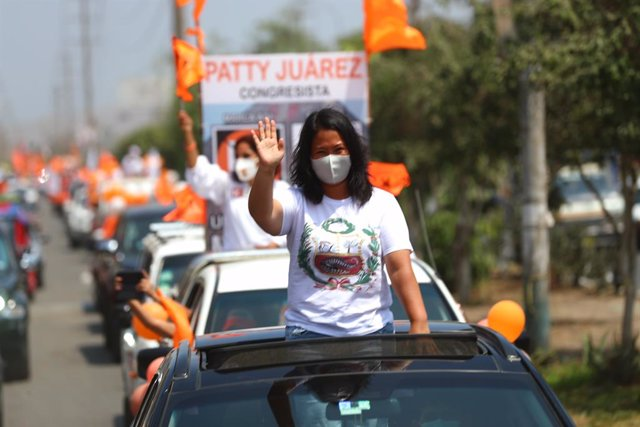 Archivo - La candidata presidencial peruana Keiko Fujimori