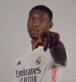 David Alaba con la camiseta del Real Madrid