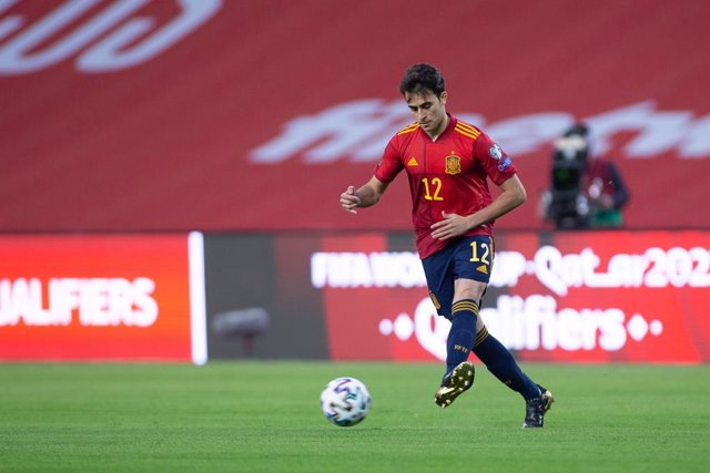 Archivo - Eric Garcia of Spain during the FIFA World Cup 2022 Qatar qualifying match between Spain and Kosovo at Estadio La Cartuja on March 31, 2021 in Sevilla, Spain