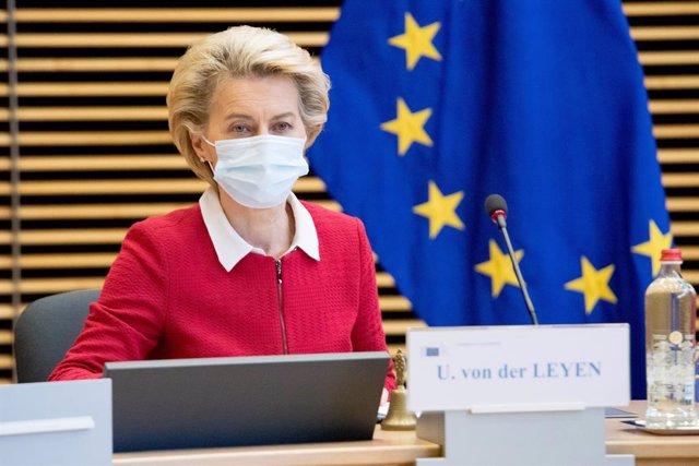 Archivo - La presidenta de la Comisión Europea, Ursula von der Leyen