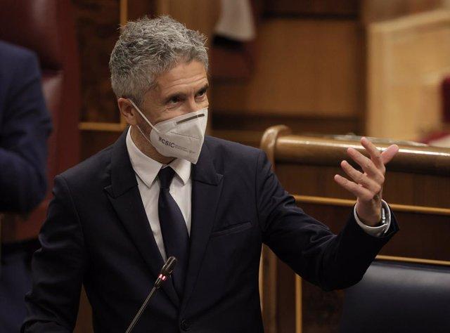 Arxiu - El ministre de l'Interior, Fernando Grande-Marlaska.