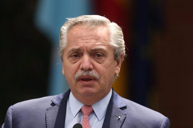 El presidente de la República Argentina, Alberto Fernández