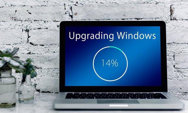 Actualizaciones en un ordenador Windows.