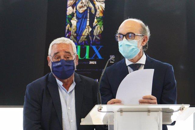 Javier Ortega (derecha) junto al secretario geneal de Las Edades, Gonzálo Jiménez.