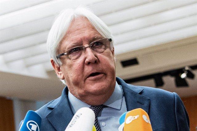 Archivo - El enviado especial de la ONU para Yemen, Martin Griffiths