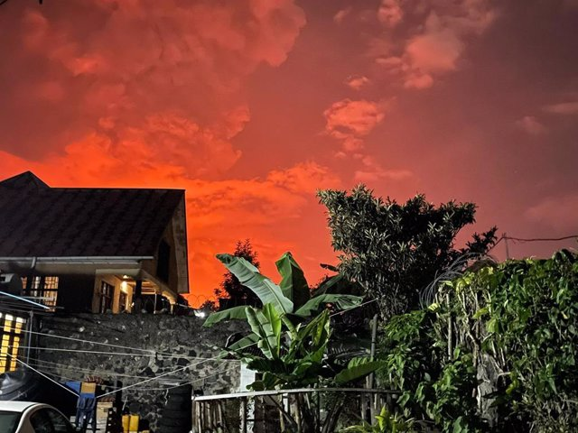 Erupción del volcán Nyiragongo, en República Democrática del Congo
