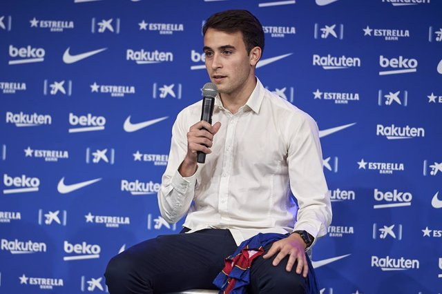 01 June 2021, Spain, Barcelona: Eric Garcia speaks during his presentation press conference, after FC Barcelona signed the Spaniard from Manchester City. Photo: Gerard Franco Crespo/DAX via ZUMA Wire/dpa