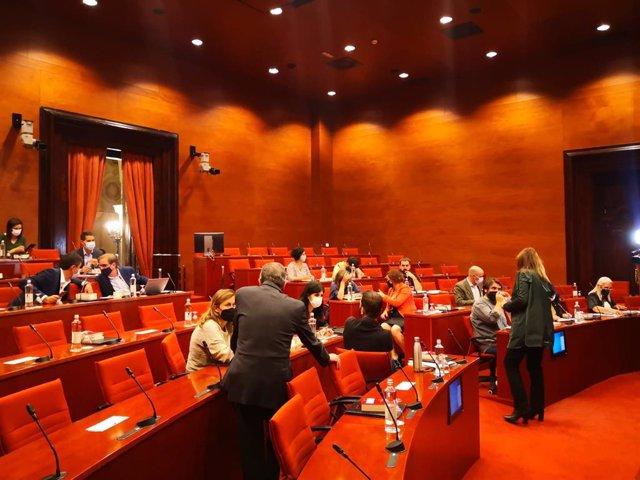 Reunió de la Junta de Portaveus aquest dimarts al Parlament