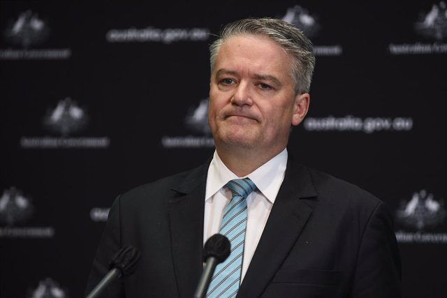 Archivo - Australian Finance Minister Mathias Cormann addresses the media during a federal budget update, ahead of the 2020/21 budget scheduled for October, at Parliament House in Canberra, Thursday, July 23, 2020. (AAP Image/Lukas Coch) NO ARCHIVING