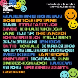 Cartel del 53è Voll Damm Festival de Jazz de Barcelona.