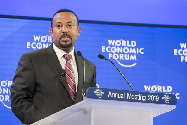 Archivo - HANDOUT - 23 January 2019, Switzerland, Davos: Abiy Ahmed, Prime Minister of Ethiopia, speaks during the Annual Meeting 2019 of the World Economic Forum. Photo: Benedikt von Loebell/World Economic Forum/dpa -