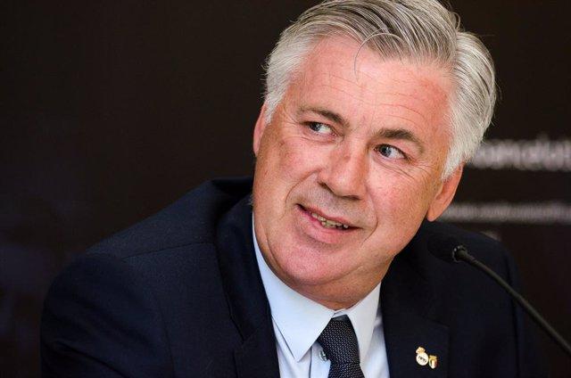 Archivo - Carlo Ancelotti presenta su página web