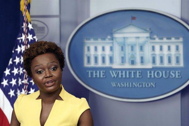 La subsecretaria de prensa de la Casa Blanca, Karine Jean-Pierre.