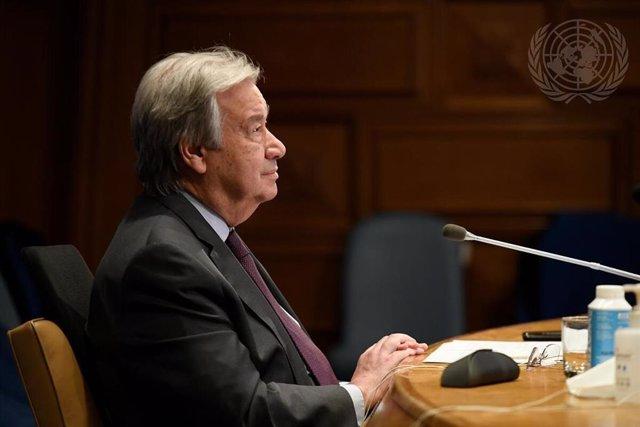 Archivo - António Guterres, secretario general de la ONU