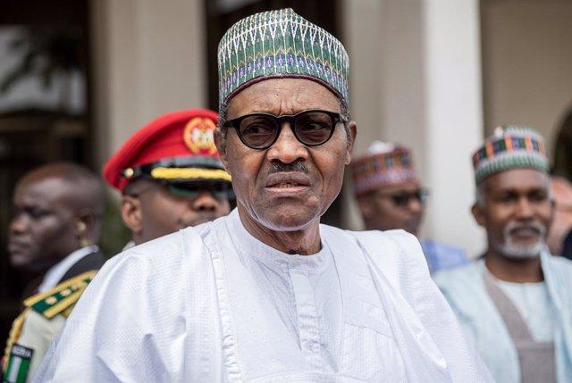 Archivo - El presidente de Nigeria, Muhammadu Buhari