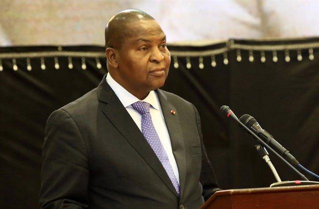 Archivo - El presidente de República Centroafricana, Faustin Archange Touadera