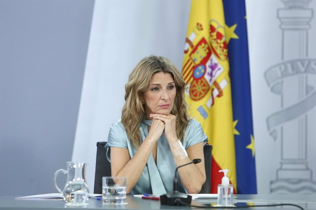 Arxiu - La vicepresidenta tercera del Govern espanyol i ministra de Treball i Economia Social, Yolanda Díaz.