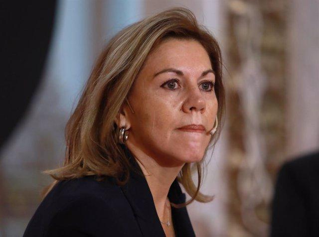 Archivo - Arxiu - L'ex-secretària general del PP María Dolores de Cospedal.