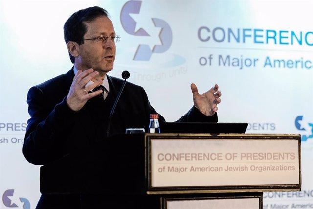 Archivo - El presidente electo de Israel, Isaac Herzog