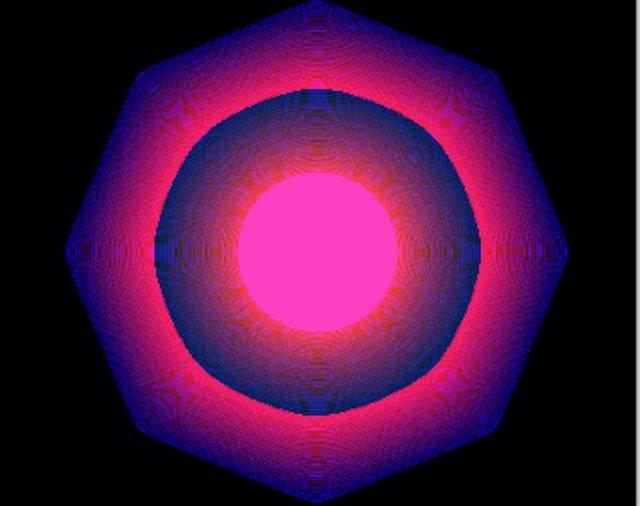 Obra de arte en NFT Quantum, de Kevin McCoy.