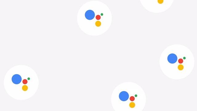 Imagen con varios logos del Asistente de Google