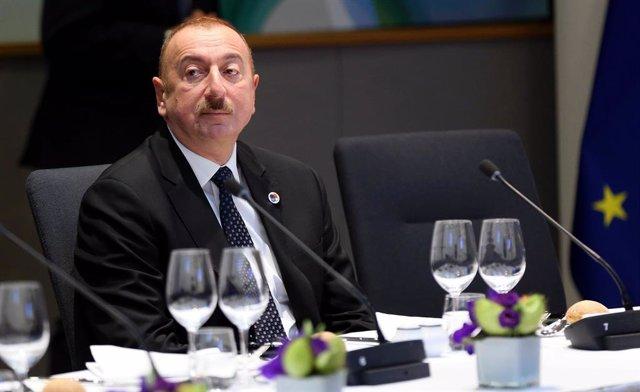 Archivo - El presidente de Azerbaiyán, Ilham Aliyev