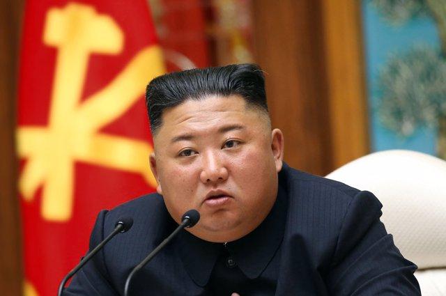 Archivo - Kim Jong Un en una reunión del Partido de los Trabajadores de Corea del Norte el 12 de abril