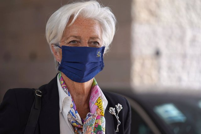 HANDOUT - 21 May 2021, Portugal, Lisbon: President of the European Central Bank (ECB) Christine Lagarde attends a meeting of eurozone finance ministers. Photo: Hugo Delgado/European Council/dpa - ATTENTION: editorial use only and only if the credit mentio