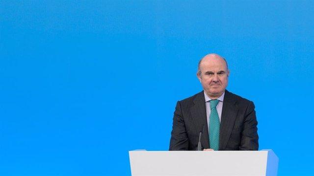 Archivo - El vicepresidente del BCE, Luis de Guindos