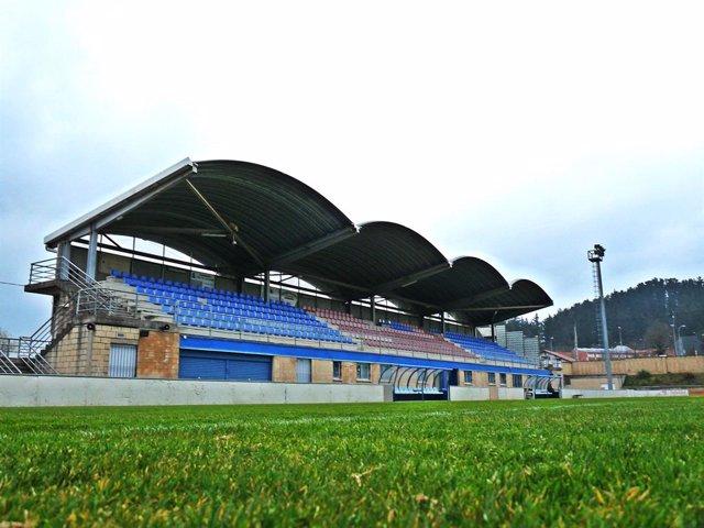 Campo de fútbol de Urritxe, en Amorebieta (Bizkaia)