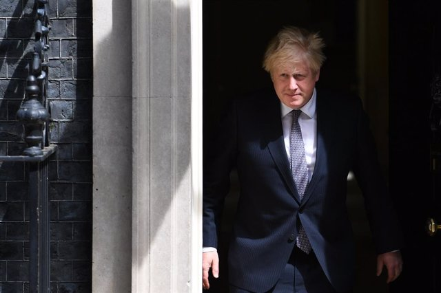 02 June 2021, United Kingdom, London: UK Prime Minister Boris Johnson exits 10 Downing Street before welcoming The North Atlantic Treaty Organization (NATO) Secretary-General Jens Stoltenberg. Photo: Stefan Rousseau/PA Wire/dpa