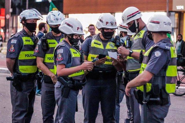 Policía de Sao Paulo, Brasil